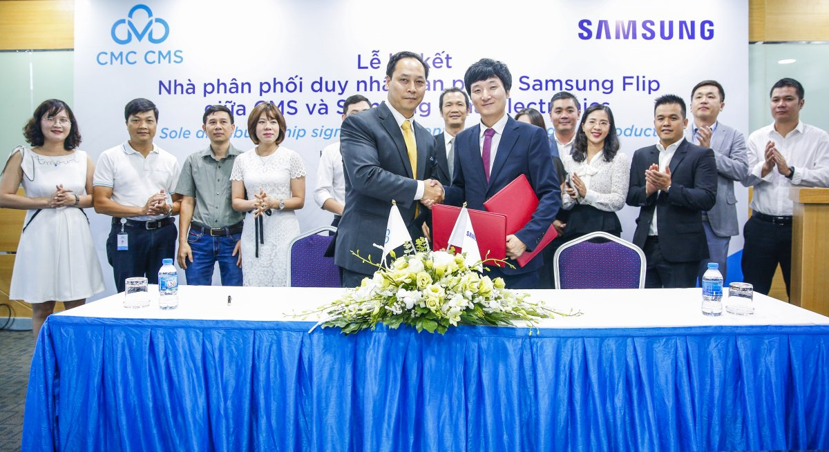 CMS is the sole distributor of Samsung Flip