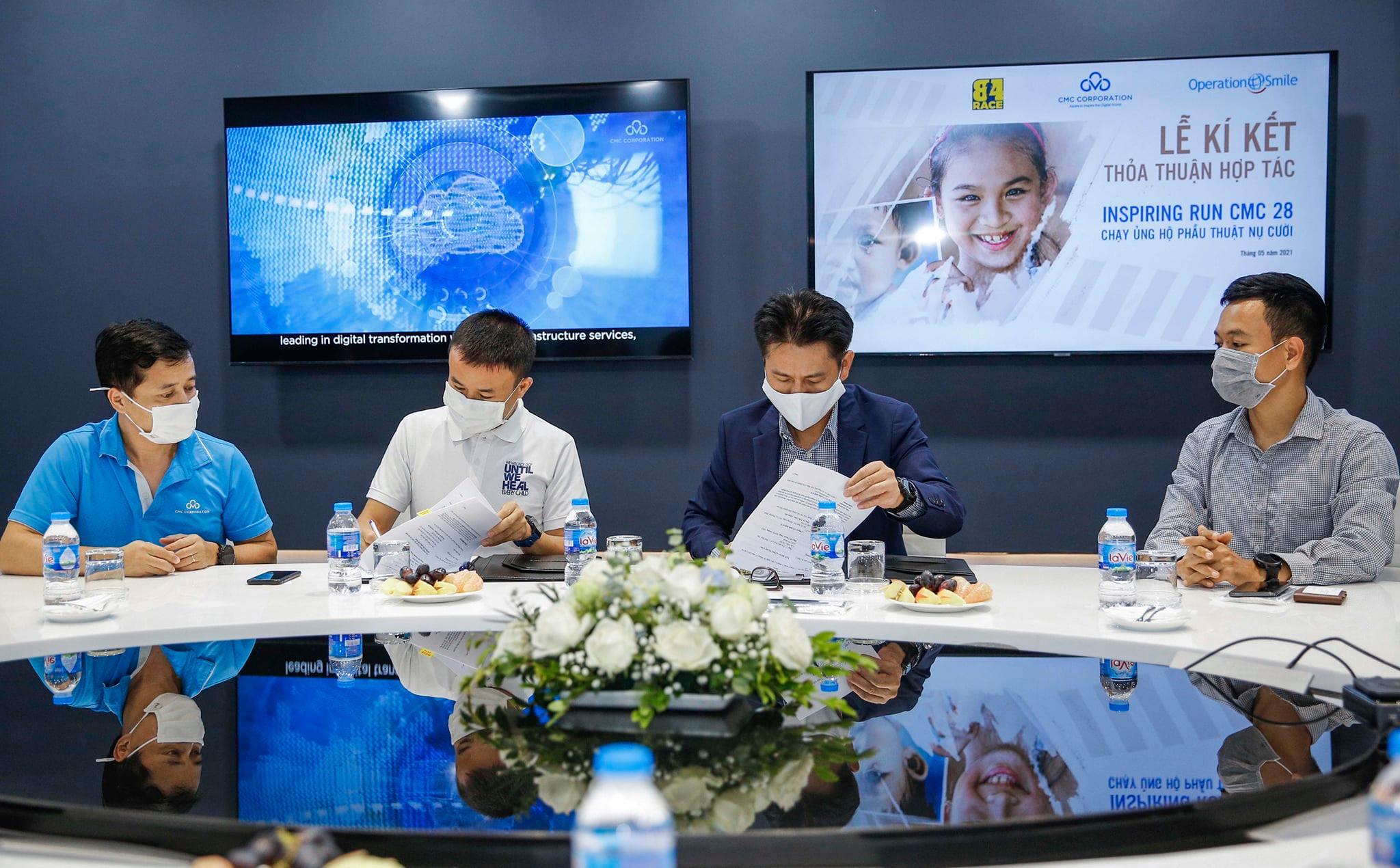 CMC, Operation Smile và 84 Race ký thỏa thuận hợp tác chương trình chạy online ủng hộ Phẫu thuật nụ cười